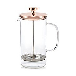 J by Jasper Conran - Glass copper top French press cafetiere