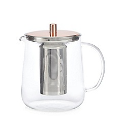 J by Jasper Conran - Glass copper top teapot
