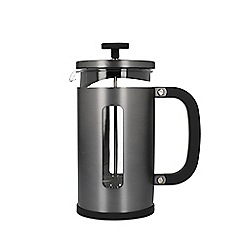 La Cafetiere - Grey Brushed Gun Metal 8 Cup Pisa Cafetiere