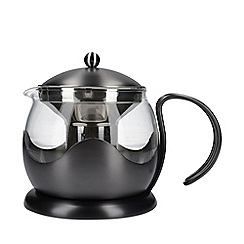 La Cafetiere - Grey Brushed Gun Metal 4 Cup Le Teapot