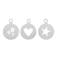 Home Collection - Set of three coffee beans, heart and star drink stencils