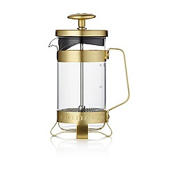 Barista & Co - Glass 3-Cup Plunge Pot Cafetiere in gold