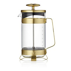 Barista & Co - Glass 8-Cup Plunge Pot Cafetiere in gold