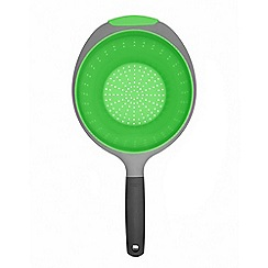 OXO - Green and grey collapsible colander