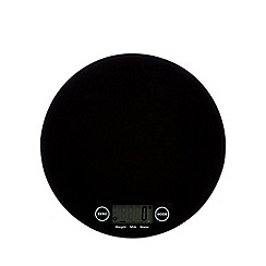 Home Collection - Black round digital scale