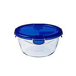 Pyrex - Borosilicate glass 'Cook And Go' round 0.7L container
