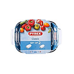 Pyrex - Set of 2 rectangular roasters