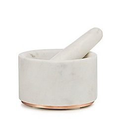 J by Jasper Conran - Ivory marble pestle and mortar set