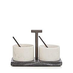 J by Jasper Conran - Ivory marble condiment set