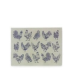 Home Collection - Multi-coloured chicken print glass kitchen board