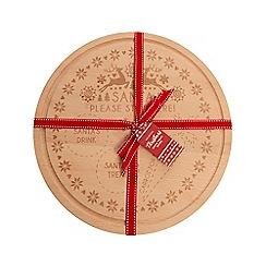 Eddingtons - Beech wood 'Santa' treat board