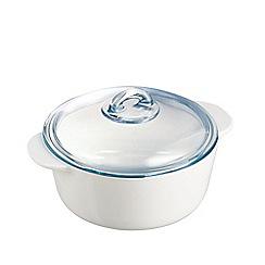 Pyrex - 'Flame' Vitroceramic Casserole Dish