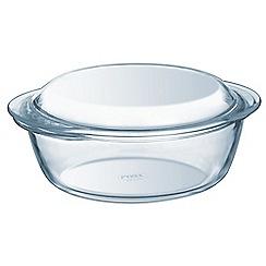 Pyrex - Glass 2.3L round casserole dish