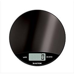 Salter - Dark Grey round electronic scale 1059