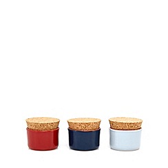 Home Collection - Set of three multi-coloured 'Hastings' spice pots