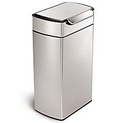 Simplehuman - Silver 30L touch bar bin