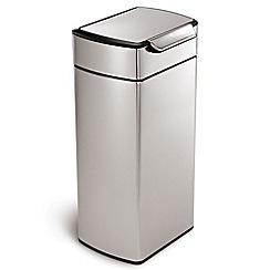 Simplehuman - Silver 40L touch bar bin