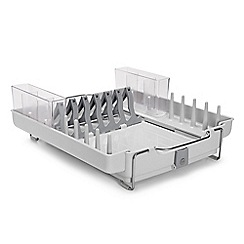 OXO - Grey 'Good Grips' foldaway dish rack