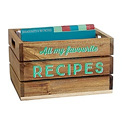 Jamie Oliver - Wooden recipe box