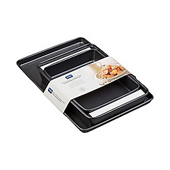 Denby - Large baking tray, small and medium roasting tin set