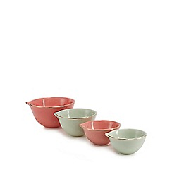 Home Collection - Set of four multicoloured stoneware measuring cups