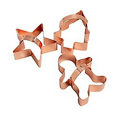 Eddingtons - Set of 3 Copper Cookie Cutters