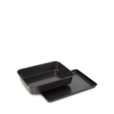 Home Collection   Heavy Gauge Steel Non Stick Roaster And Oven Tray by Home Collection
