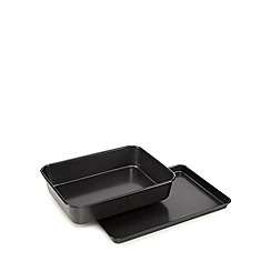Debenhams - Heavy gauge steel non-stick roaster and oven tray