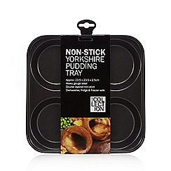 Debenhams - Heavy gauge steel non-stick Yorkshire pudding tin