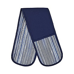 Home Collection - Blue stripe double oven gloves