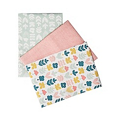 Home Collection - Set of three multi-coloured printed tea towels