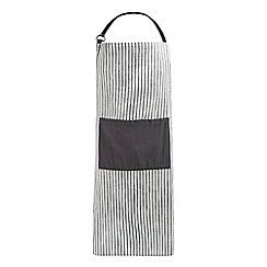 Home Collection - Dark grey textured stripe apron