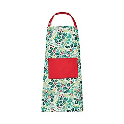 Home Collection - Multicoloured holly print apron