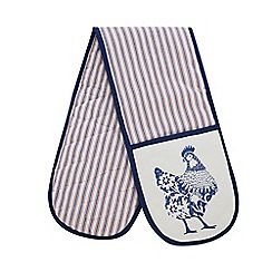 Home Collection - Multicoloured striped chicken print double oven glove