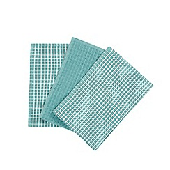 Home Collection Basics - Teal set of three terry towels