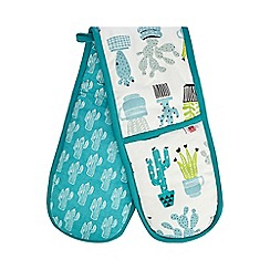 Ben de Lisi Home - Green cactus print oven gloves