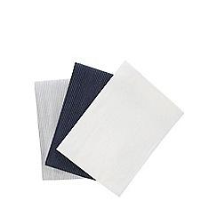 J by Jasper Conran - White pack of three stripe tea towels