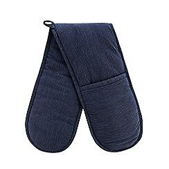 J by Jasper Conran - Blue stripe double oven glove