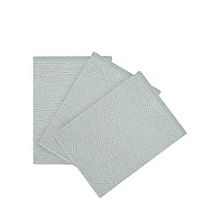 Home Collection - 3 Pack Light Green Textured Tea Towels