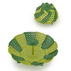 Joseph Joseph - Green 'Lotus  Plus' folding steamer basket