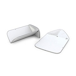 Joseph Joseph - White 'Rinse&Chop  Plus' folding chopping board with integrated colander