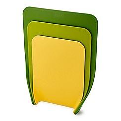Joseph Joseph - Set of 3 green 'Nest  Chop' chopping boards