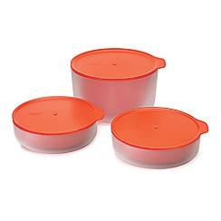 Joseph Joseph - Set of 3 orange 'M-Cuisine™' microwave cool-touch bowls