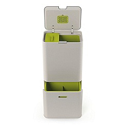 Joseph Joseph - Cream and green 'Totem 60' waste separation and recycling unit