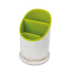 Joseph Joseph - White and green 'Dock ' cutlery drainer and organiser
