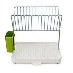 Joseph Joseph - White and green 'Y-rack ' 2-tier dish drainer