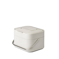 Joseph Joseph - White 'Stack 4' food waste caddy with odour filter