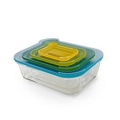 Joseph Joseph - Multi-coloured glass 'Nest ' 4 piece food storage set