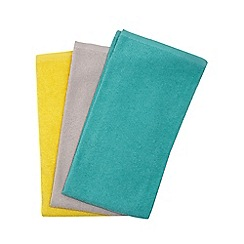 Ben de Lisi Home - Set of three multicoloured hand towels