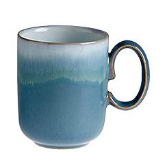 Denby - Blue 'Azure' double dip print mug